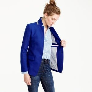 J CREW Regent Blazer Cobalt Blue Wool Blend Career